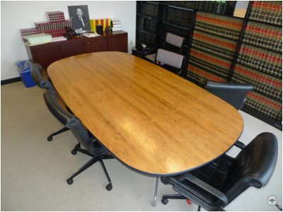 Herman Miller Eames Conference Table refinished, preserving patina