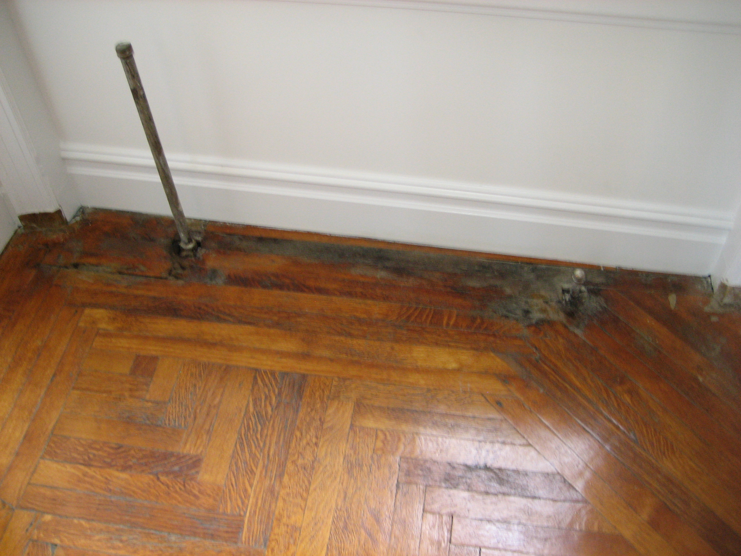 leaking radiators destroying the floor
