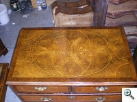 Early 18th Century Queen Anne Period Marquetry Chest of Drawers, after French Polishing