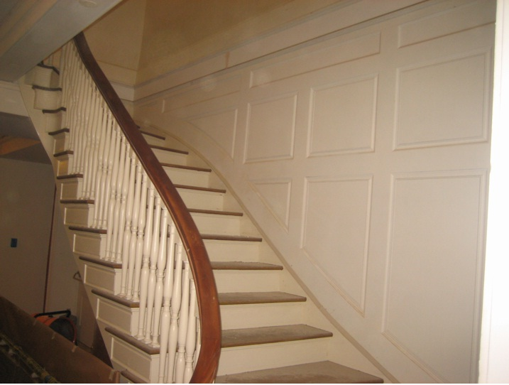 Stairs after woodwork
