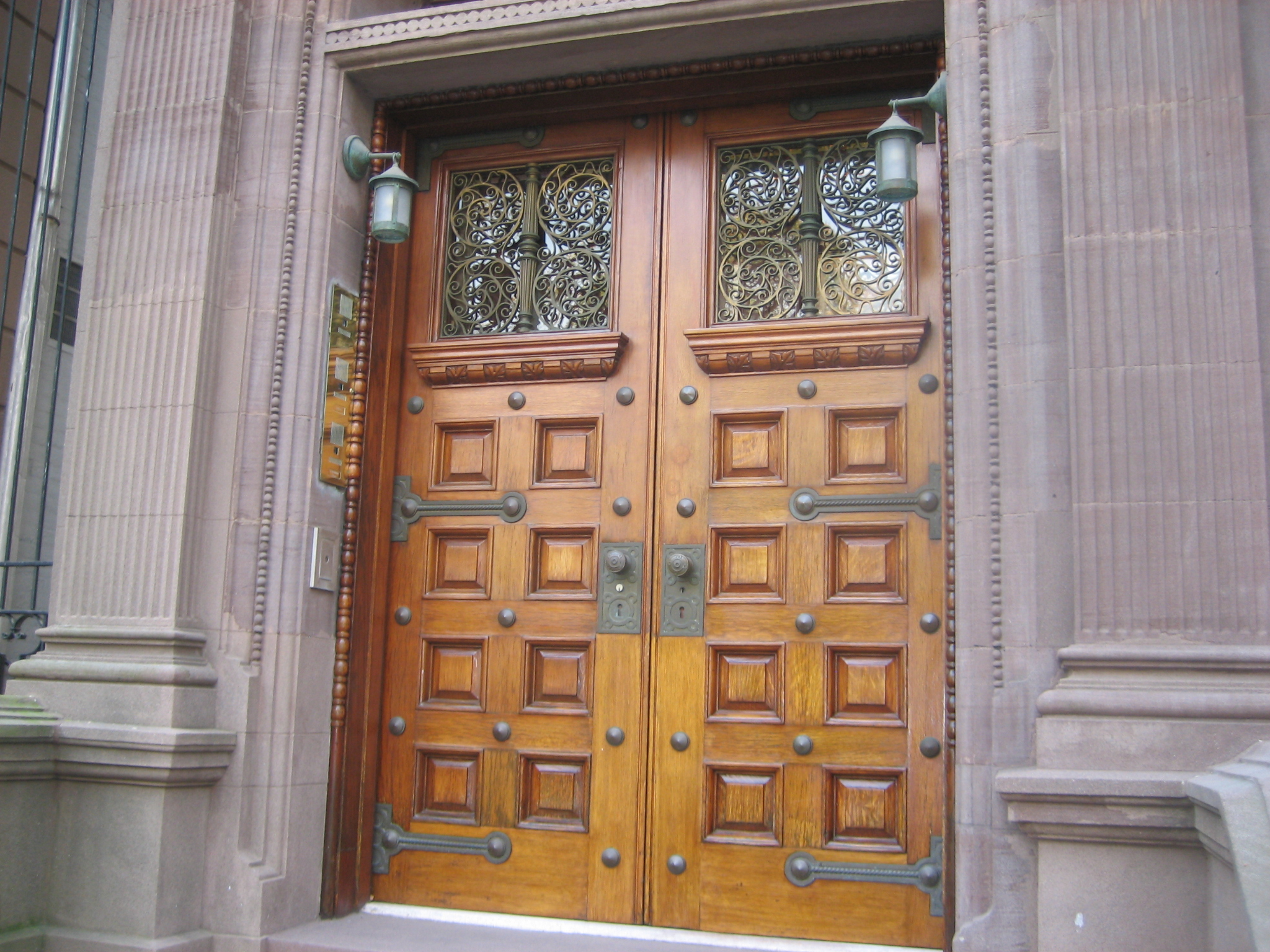 conserved and restored the original exterior doors