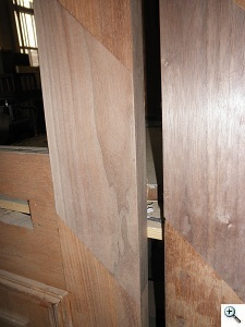 Restoration of Walnut Brownstone Entry Doors During