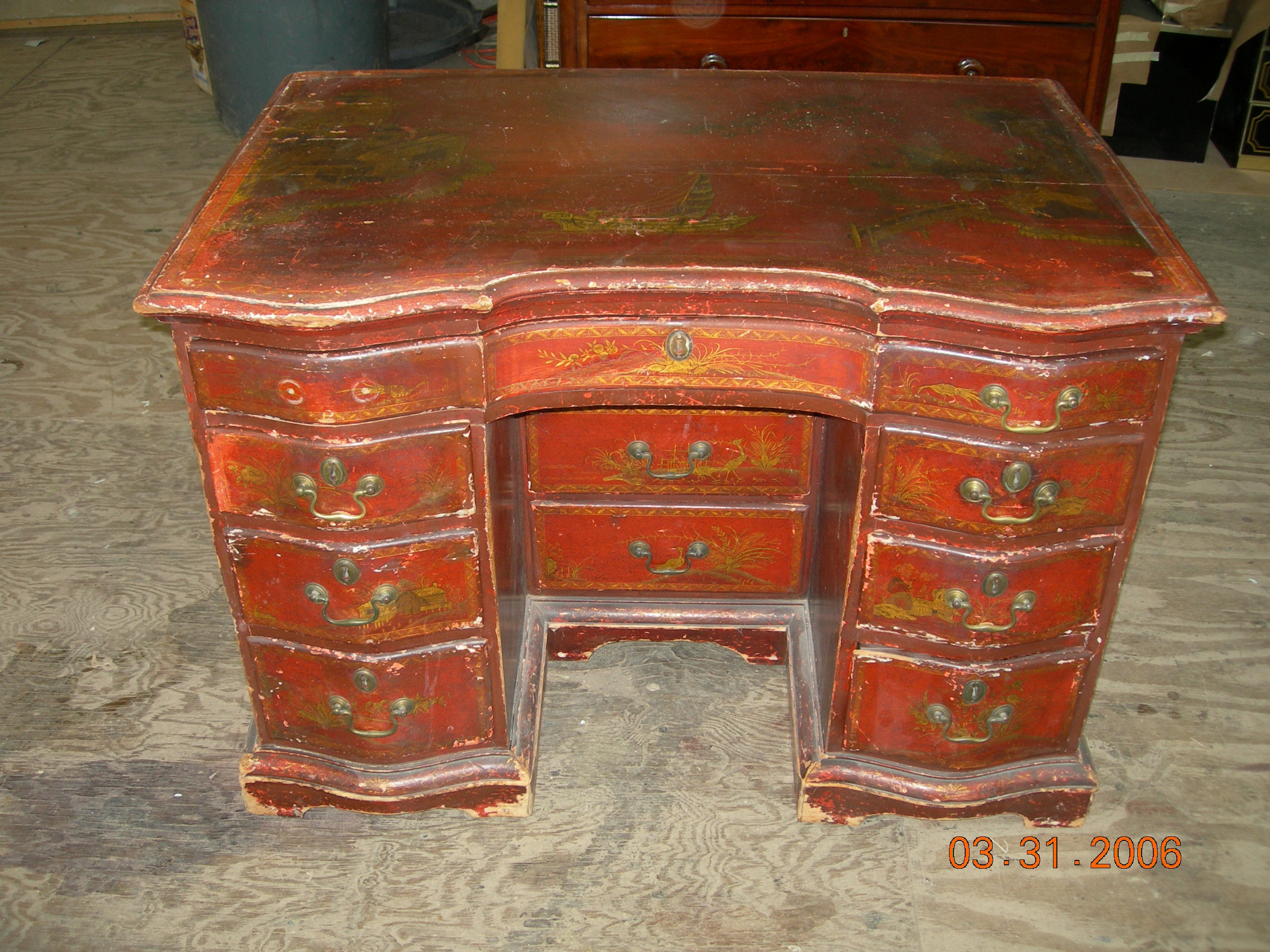 antique furniture conservation repair gilding lacquer