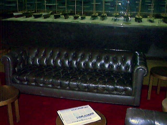 NY Yacht Club Lounge Sofa Fabrication After