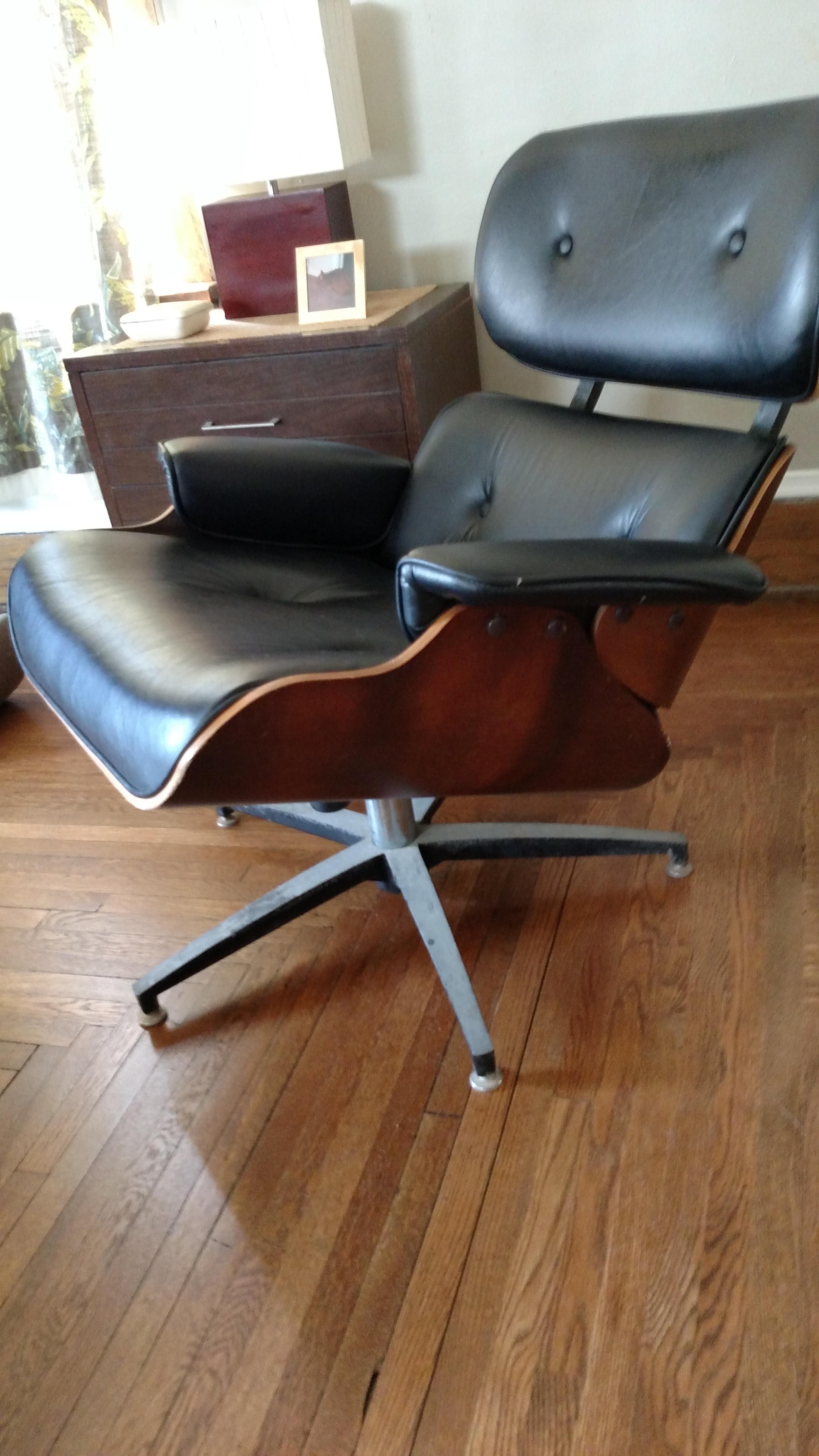 Vintage eames lounge chair - Is My Vintage Eames Chair Real Olek Restoration Furniture Millwork Ornamental Metal