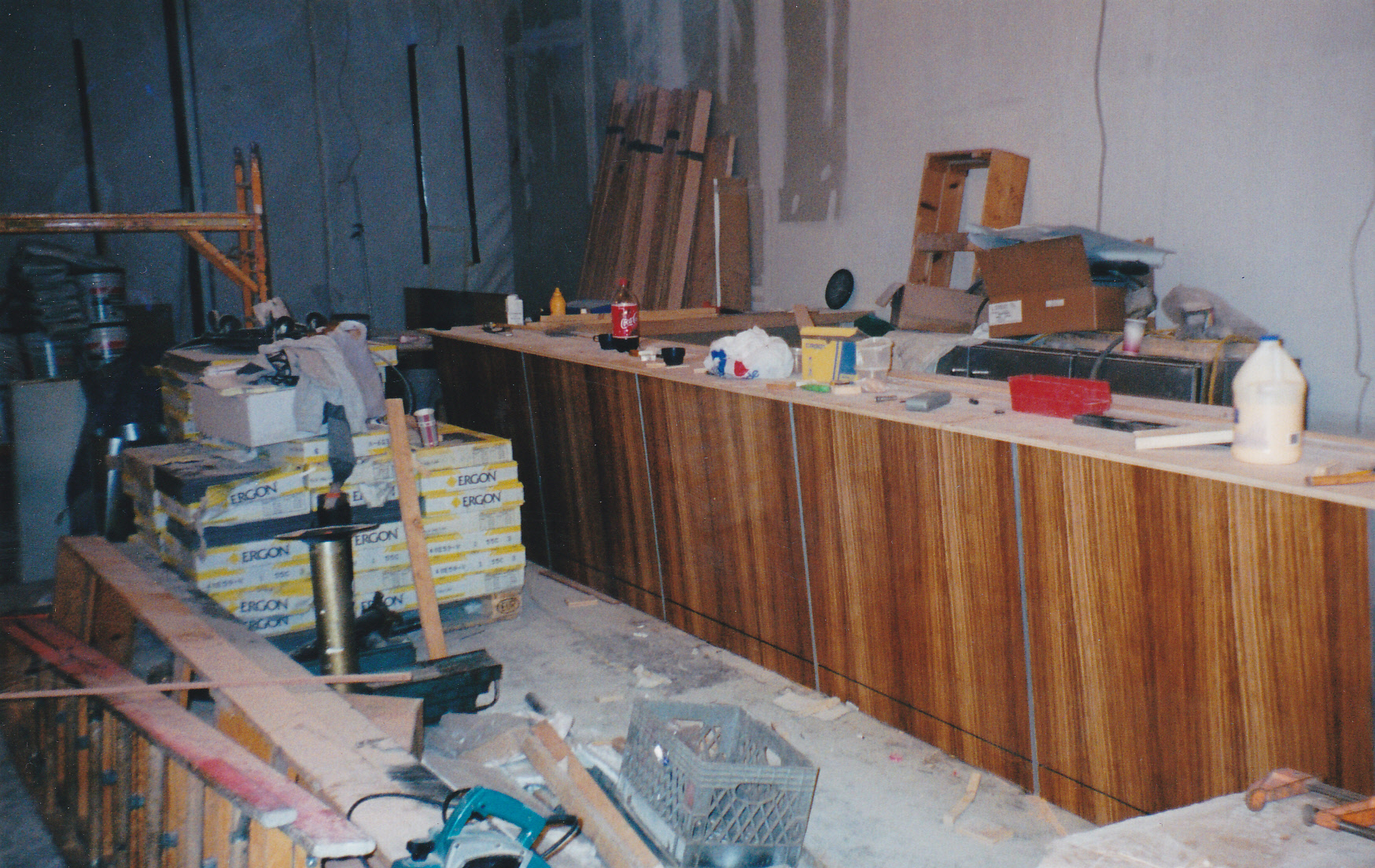 Zebrawood Bar being installed