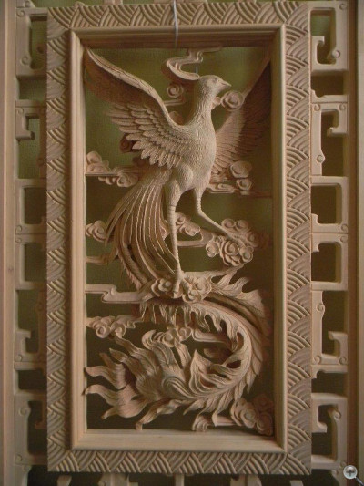 Chinese style carving after