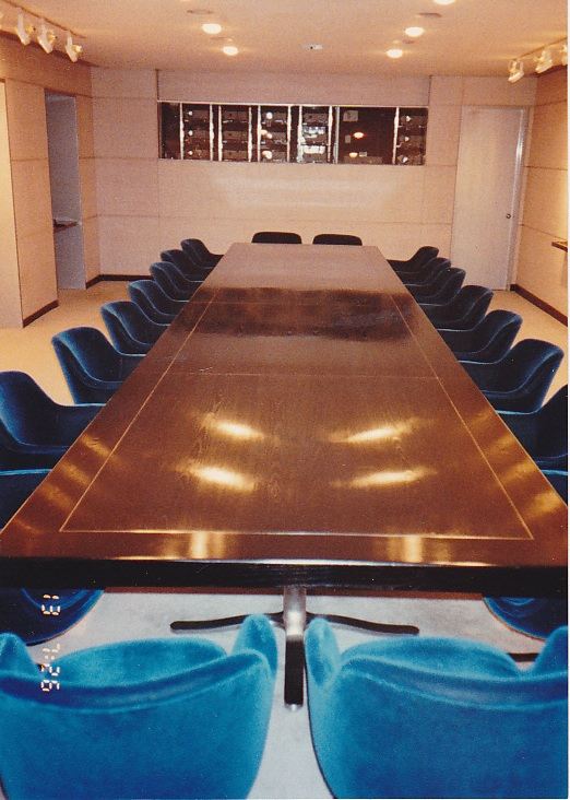 Grey Advertising Boardroom Table, New York City AFTER refinishing