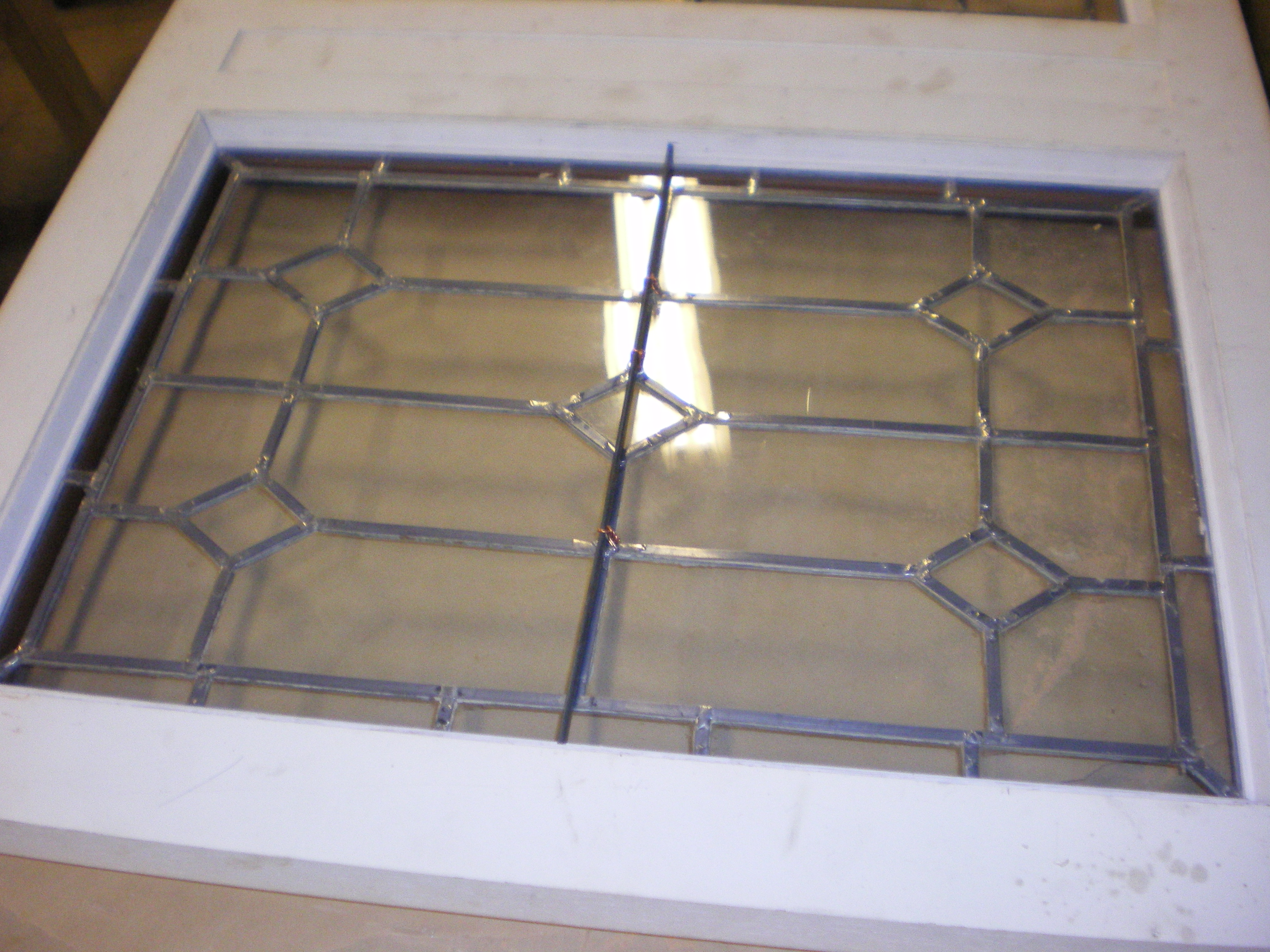 Leaded Glass Restoration And Repair Clear Colored Beveled And
