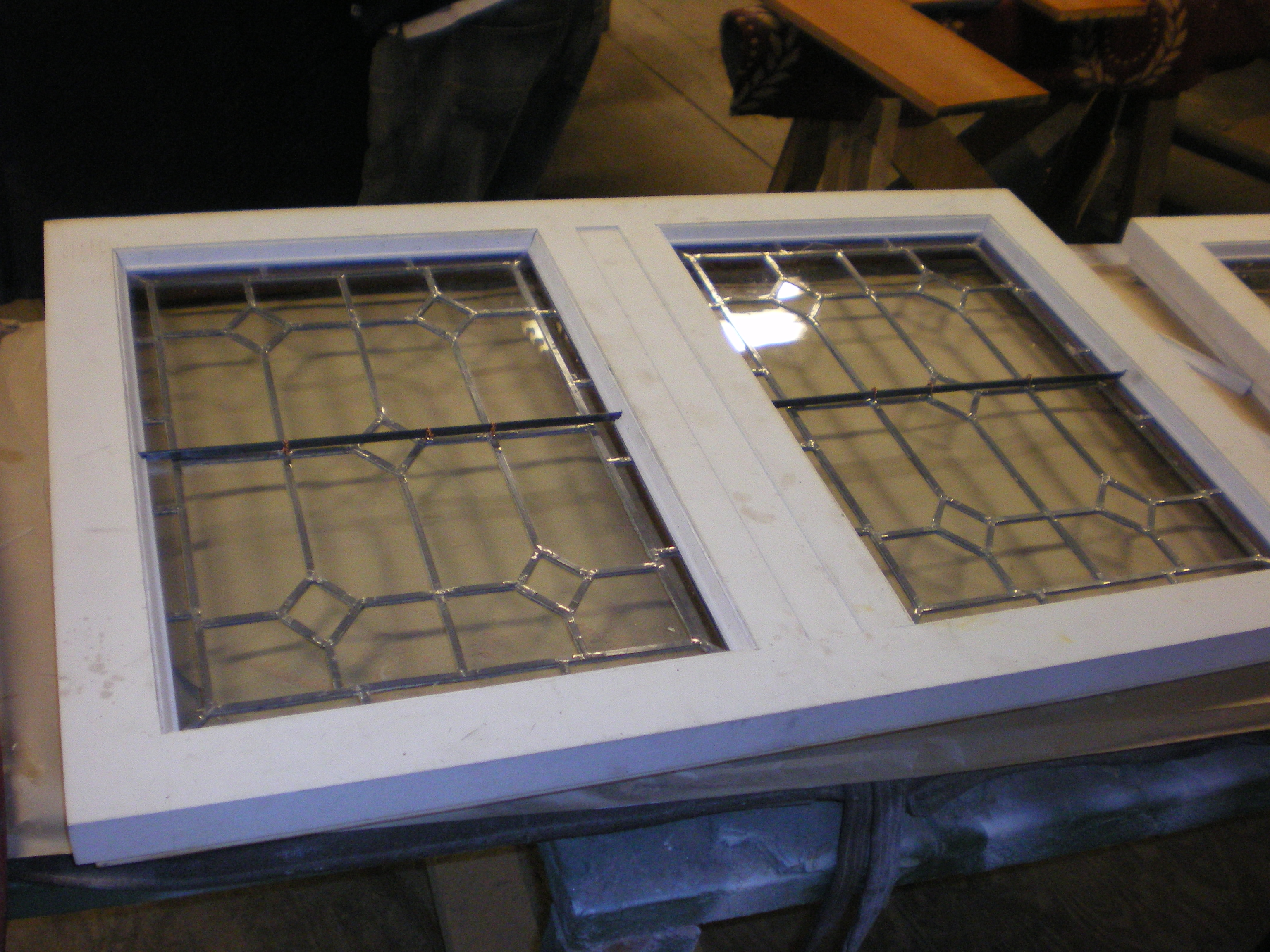 Leaded Glass Restoration And Repair Clear Colored