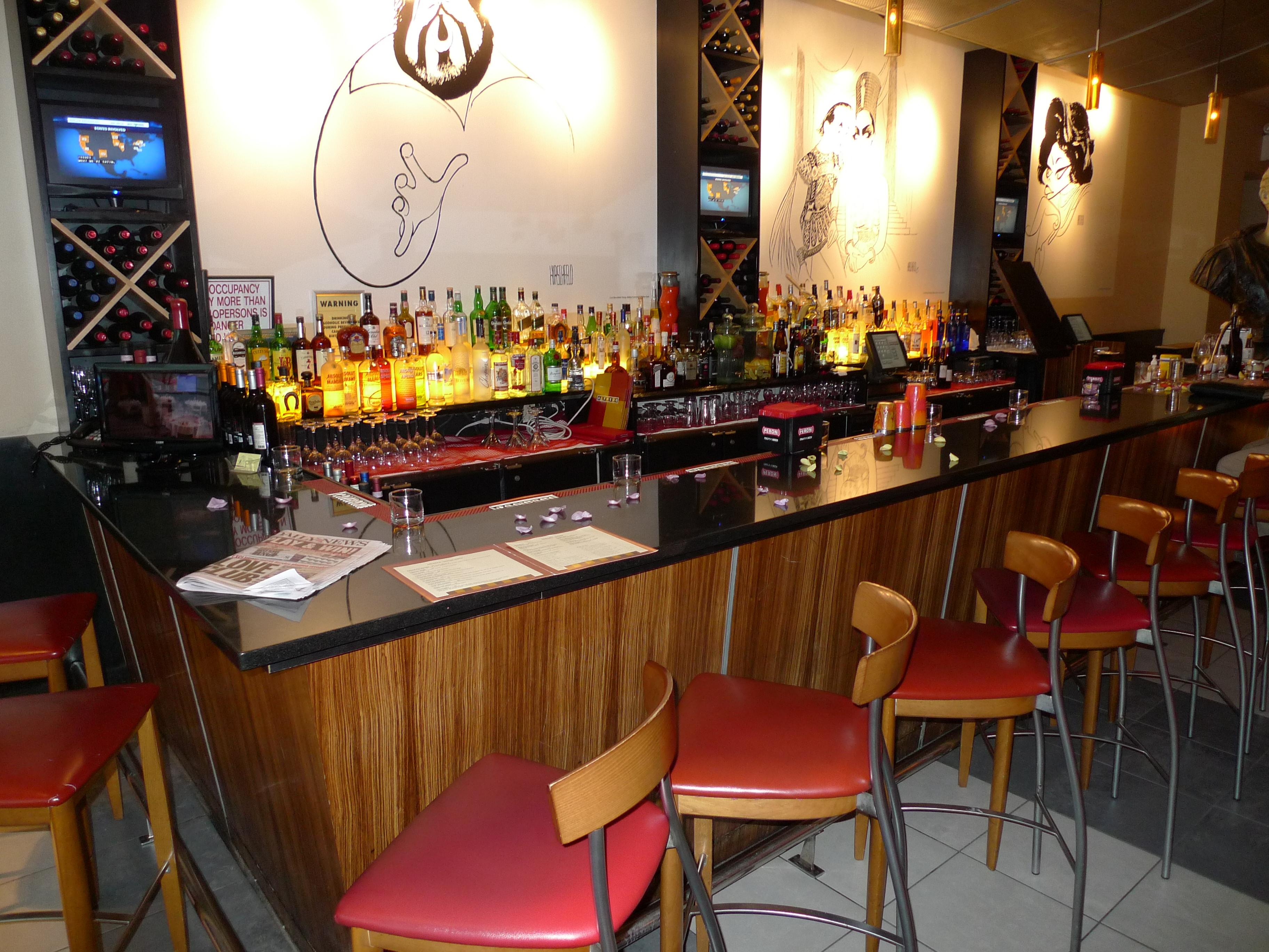 Custom raised panel restaurant interior design