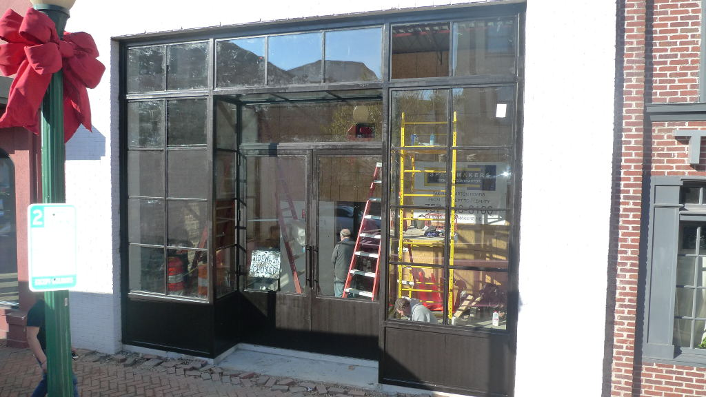 Industrial Style Steel Windows and Doors 16 feet high for Norfolk Virginia Art Gallery