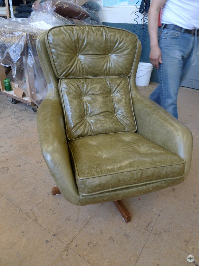 office chair reupholstery before