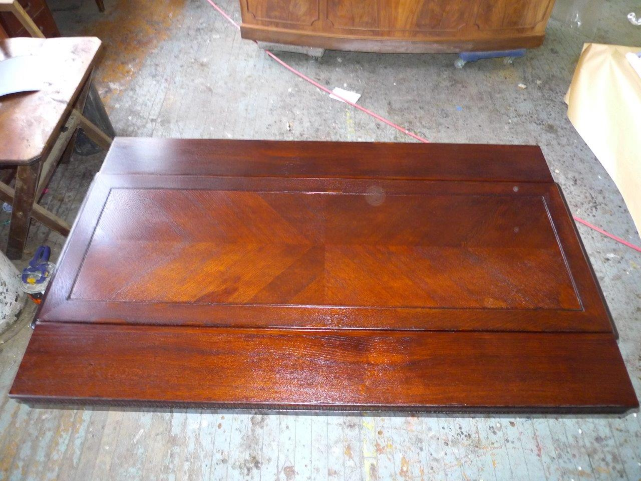 Glossy Closed Pore Dining Table Before