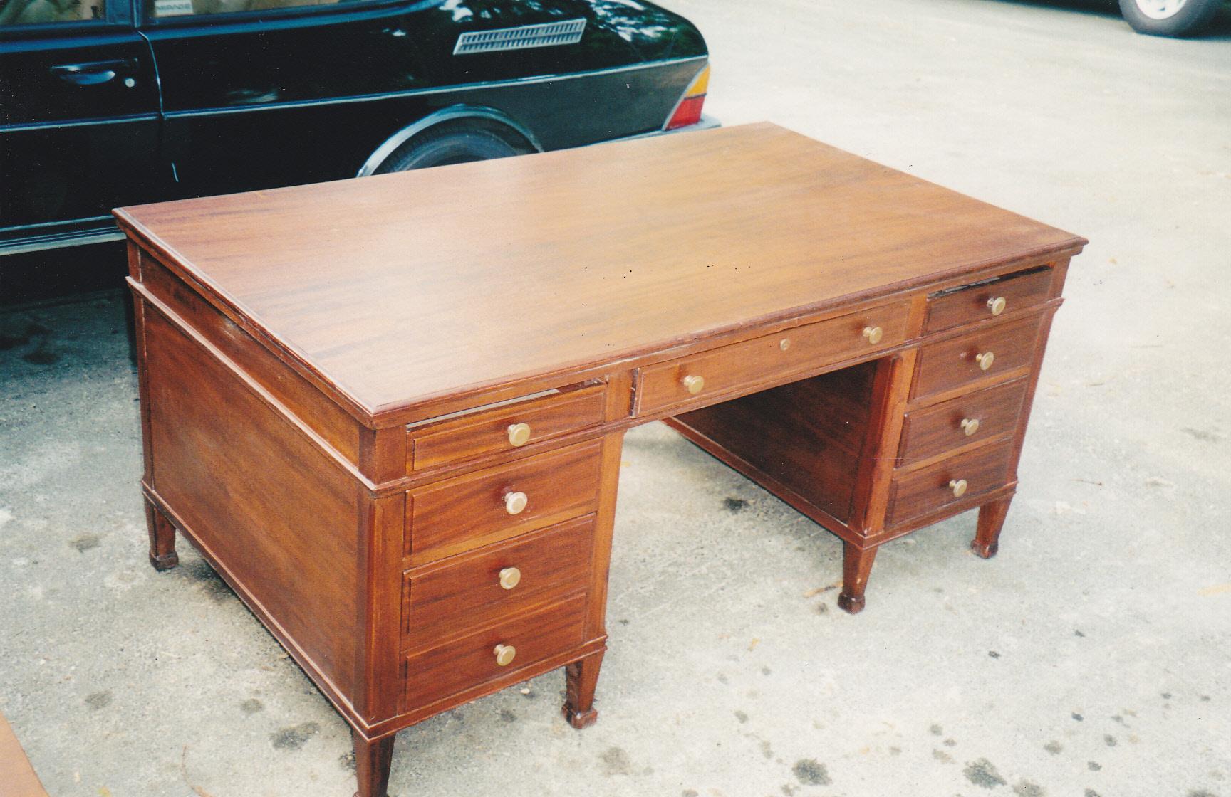 Desk Before Restoration · Desk After Restoration