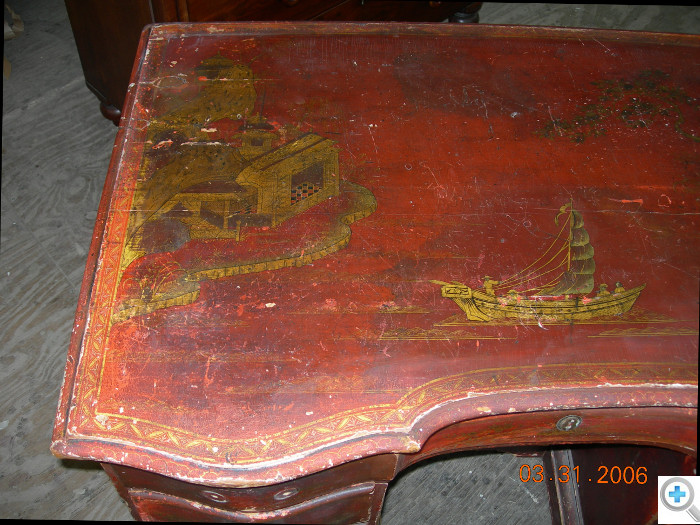 The conservation process to remove the grime and oxidized varnish is long and arduous.
