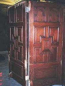 doors and paneling before restoration