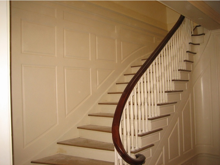 Newly restored stair after the careful restoration