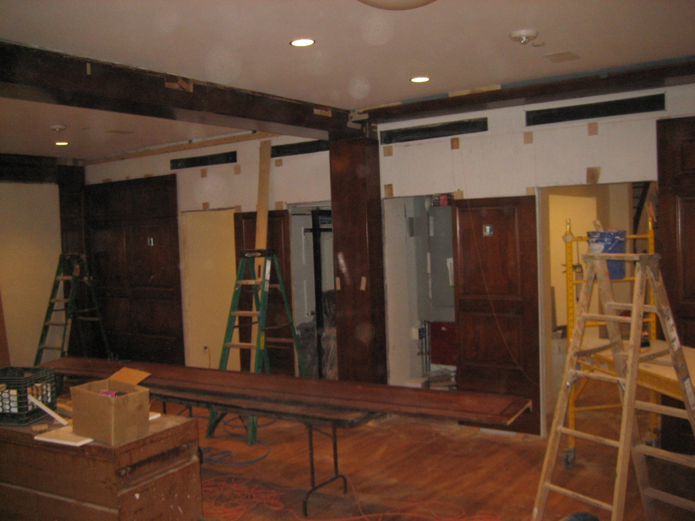 FDR's Library during the restoration