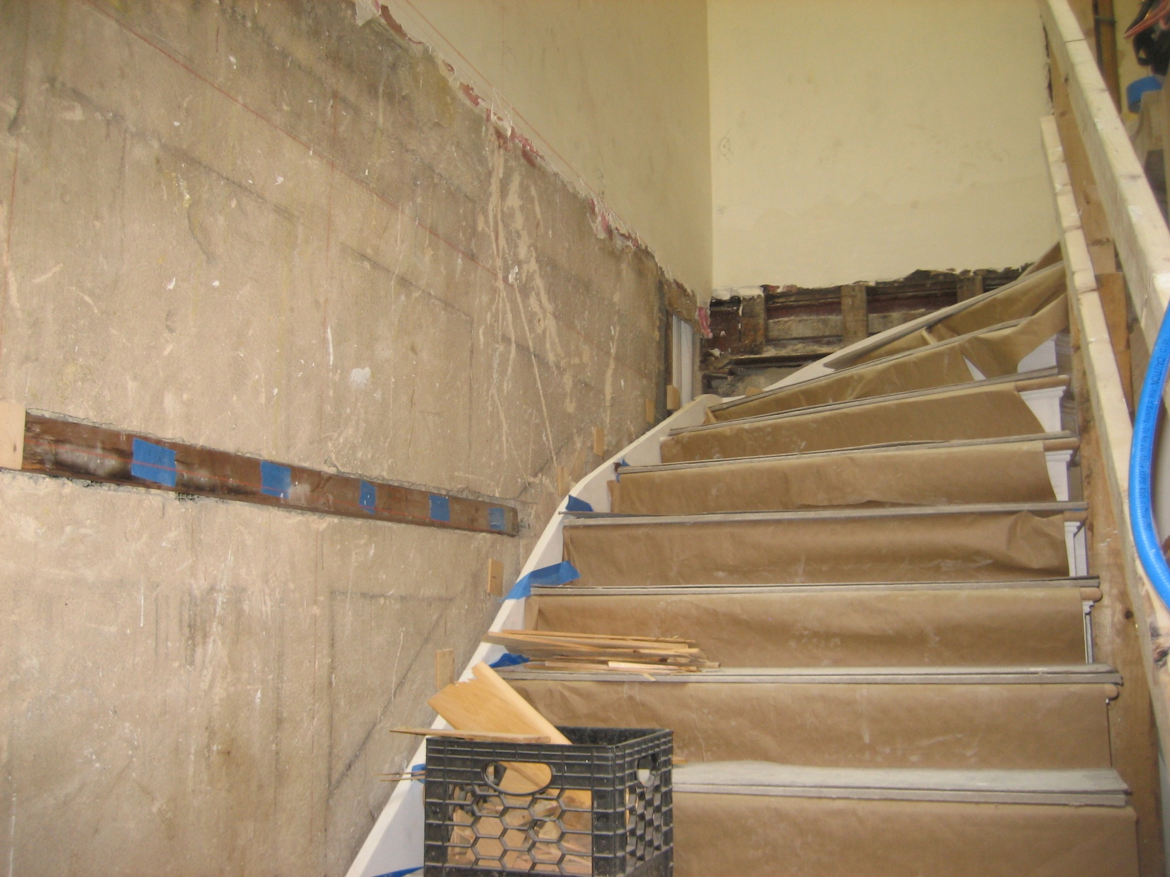 Old stairway before restoration required to be replaced