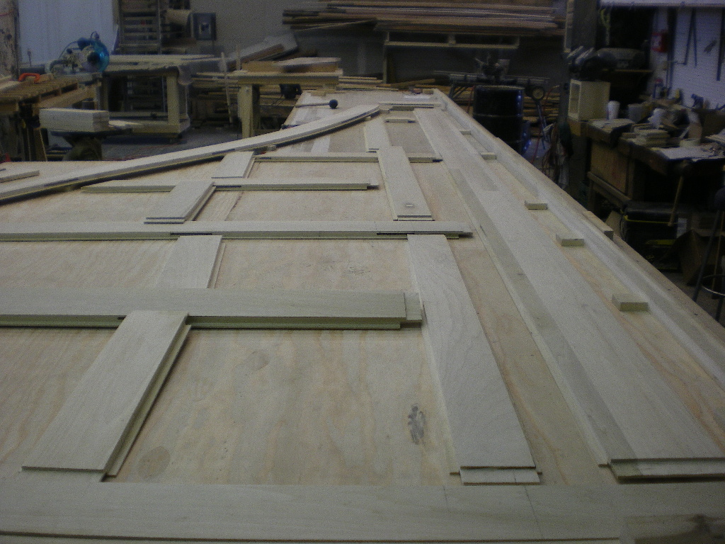 Paneling for stairs, fabricated with mortise and tenon joinery