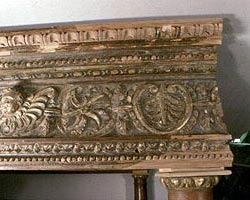 BAROQUE CARVED FURNITURE DUTCHMAN INLAYS