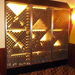 Wine Storage shop fabricated, with mesh screens and locks