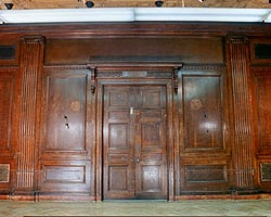 English Oak Paneling Carving and Dutchman Inlay- Baruch College, Cuny, restoration