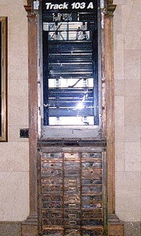 GRAND CENTRAL MACHINE AGE CABINETS DURING RESTORATION