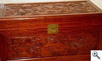 Chinese camphor wood chest with paint spattered and stains, removed without stripping furniture refinishing
