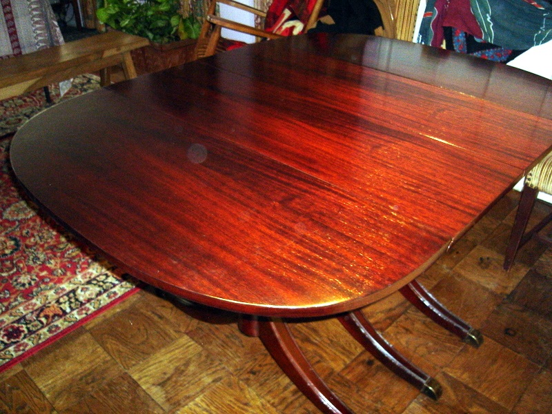 Typical 1st Half 20th Century Dining Table Top Before And After