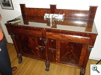 American Empire Period Sideboard Repair, Princeton University before