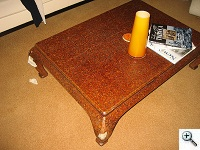 Karl Springer Bamboo Inlay Coffee Table repair