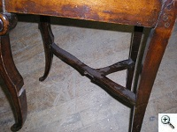 Louis XV period side chair with broken stretchers