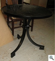 Regency Style Dining Table Pedestal after repair