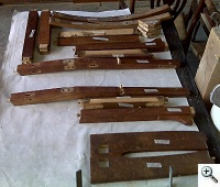 Stickley Rocker disassembled to repair stiles, rails, splat