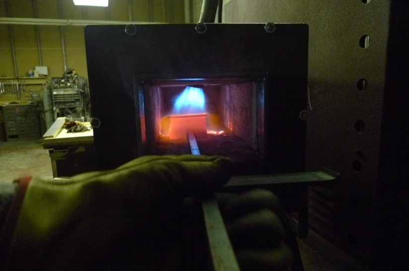 Iron heating in furnace