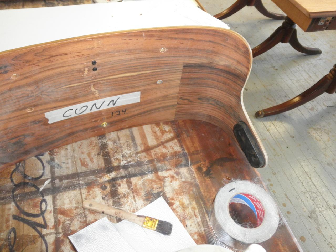 ... Inside Of The Lounge Has Rosewood Inlay As Well, Not Carefully Matched  Or Touched Up