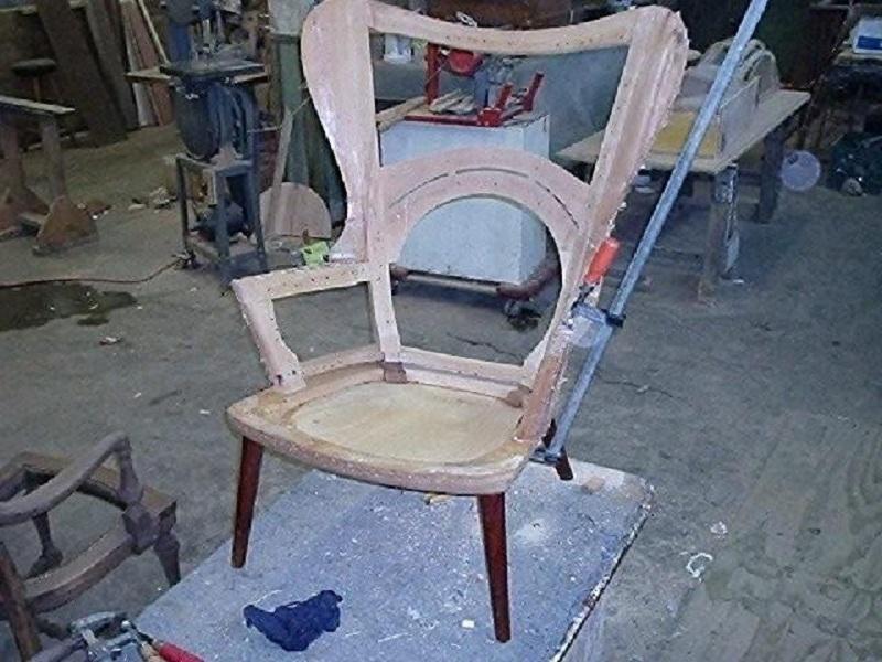 Hans Wegner Mama Bear Chair During Reupholstery