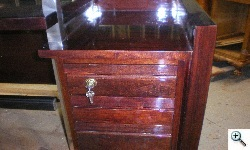 Mario Bega Desk Drawers after drawer replacement and repairs, after refinishing