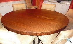 vladimir kagan dining table restored
