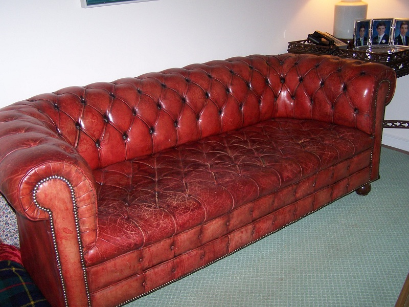 Tuxedo Or Chesterfield Sofa Recovery U0026 Leather Restoration  Seat Replaced  To Match Rest Of Sofa