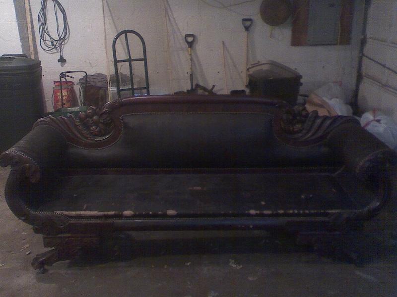 Original Horsehair Covering Of Sofa Bolsters, Before Recovery And Repair