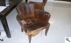 Art Deco Period Original Leather, distressed