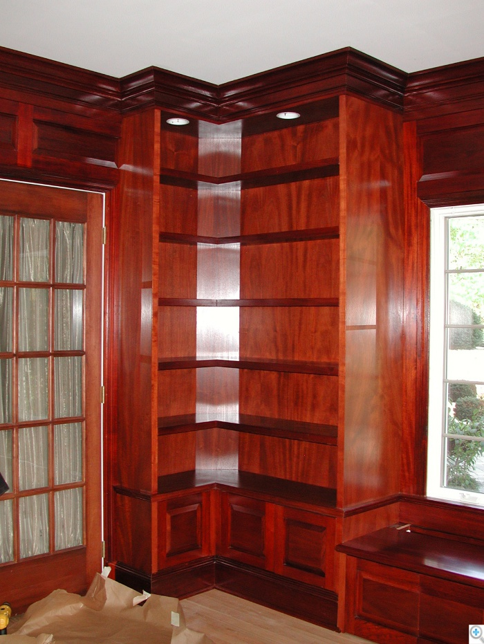 custom library woodwork