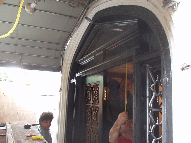 1225 Park Ave. Iron Door Fabrication, during