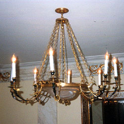Gilt Bronze Chandelier Rewired and Installed