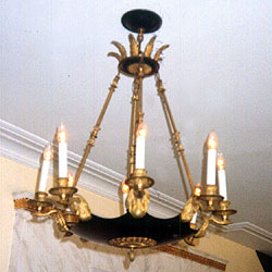 Bronze Chandelier Restored 1 East Avenue NYC