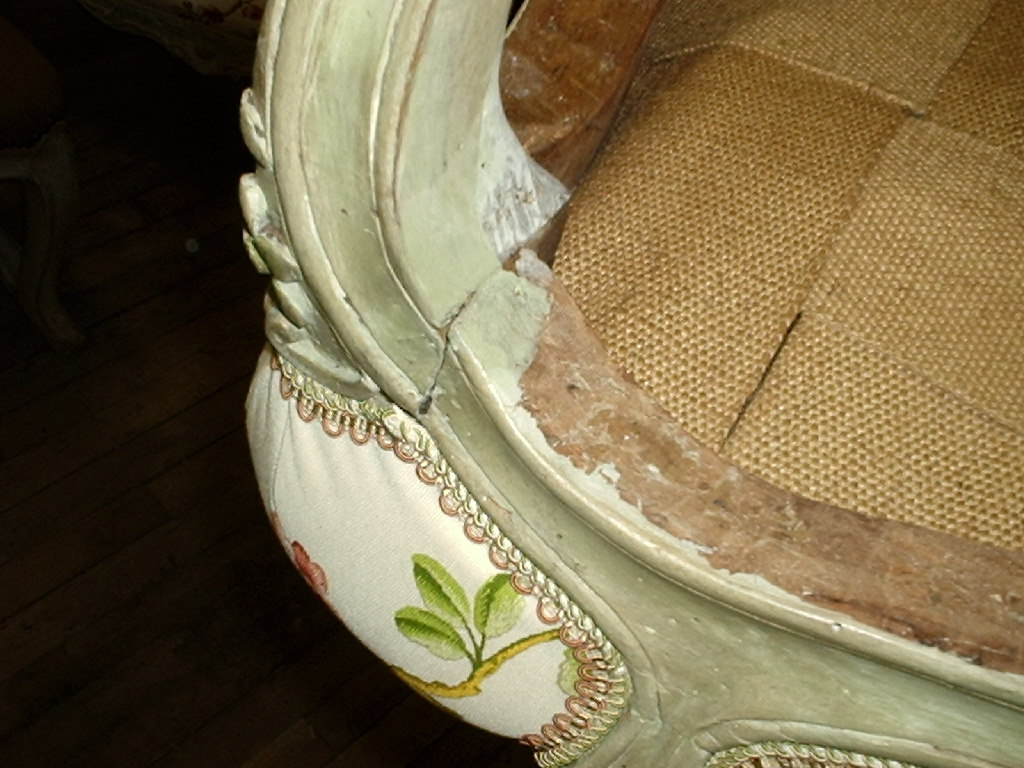 Louis XV Period Fauteuil Armchair BEFORE restoration