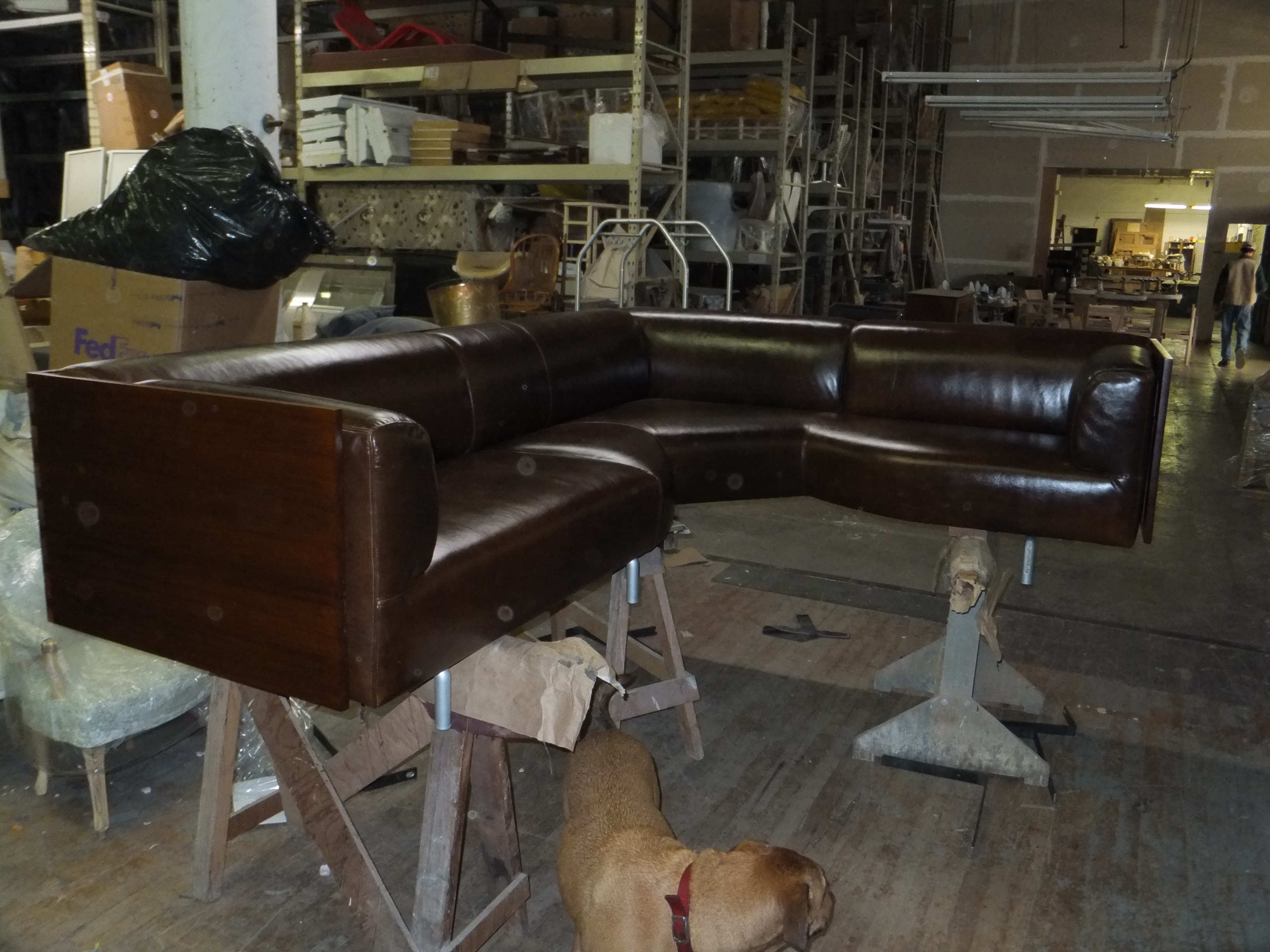 During restoration and reupholstery